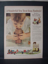 1955 Borden's Dutch Chocolate Flavored Milk Drink Cow Elsie VTG Print Ad 11401