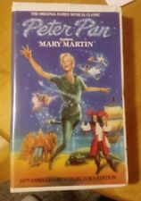 PETER PAN Starring MARY MARTIN 30th Anniversary Collector's Edition VHS (OOP)