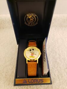 Vintage NOS 1980's Seiko Lorus Mickey Mouse Disney Watch with Box & Instructions