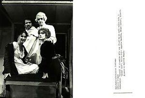 """FOTO ORIGINALE ARCHIVIO RAI TV-""""MARAT SADE""""con CARDILE,CIRINO,BISACCO e BAGGI."""