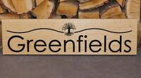 Personalised Engraved Oak Wooden Sign for House Stable Door Name Plaque Custom