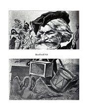 1887-rpt GIUSEPPE VERDI by CARL von STUR AIDA Italian Composer Caricature MATTED