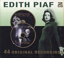 EDITH PIAF - 44 Original recordings - La vie en rose / Les amants - 2 CD 2001 NM