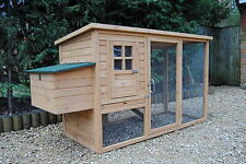 NEW Chicken Coop Poultry Rabbit Cat House & Run CC047 up to 4 hens Opening Roof