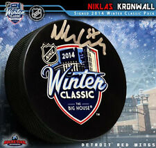 NIKLAS KRONWALL Signed 2014 NHL Winter Classic Puck - Detroit Red Wings