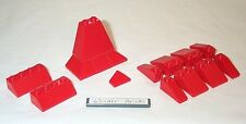 Lego Corner Red Slopes 4956 House Roof