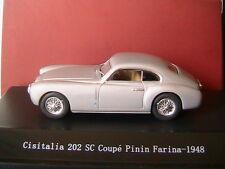 CISATALIA 202SC COUPE PININ FARINA 1948 SILVER STARLINE 540025 1/43 SILBER