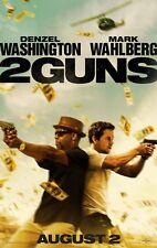 2 GUNS Advance DOUBLE SIDED ORIGINAL MOVIE film POSTER Denzel Washington cinema