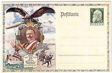 Bayern Privatganzsache 25 J. Wilhelm II Zeppelin PP27 C121/03 1913
