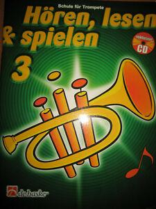 Hören, lesen & spielen, Schule für Trompete Band 3 de haske Verlag DHP 1013023