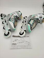 Roller Derby Women's Inline Skates Size 6 Aerio A60 1359MT White/grey/mint