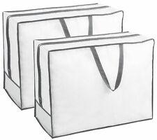 2er Set Aufbewahrungstasche Tragetasche für Bettwaren mit Reißverschluss