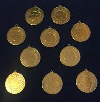 & 10 x Gold Medals Star Reward Competition Trophy Sports Engravable Metal