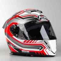 Casco integrale fibra carbonio moto racing pista Airoh GP 500 Rival red helmet