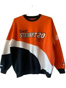 Vintage Tony Stewart #20~Home Depot Racing~Crewneck~Colorblock~ Chase Authentic
