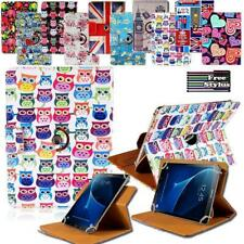 """For 7"""" 8"""" 10"""" Samsung Galaxy Tab Folio Rotating Stand Wallet Leather Cover Case"""