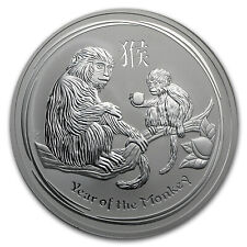 2016 Australia 10 oz Silver Lunar Monkey BU - SKU #92720