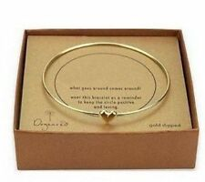Cuff Bangle Bracelet Gift Jewelry Fashion Love Heart Women's Gold Plated