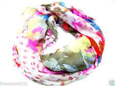 Bunte Damen-Schals & -Tücher aus Polyester mit Blumenmuster