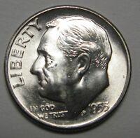 Gorgeous 1953-S Silver Roosevelt Dime Grading Choice BU     DUTCH AUCTION