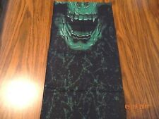 "MIP- "" The Green Monster Skull "" design Tubular Hydro Face Shield Sun Mask"