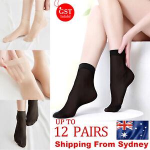 Ladies Women Nylon Elastic Short Ankle Sheer Stockings Silk Short Socks BULK AU