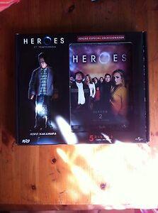 HEROES SEGUNDA TEMPORADA 5 DVD Ed Coleccionista STEELBOOK + FIGURA HIRO NAKAMURA