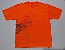 Stihl MagCool Genuine Clothing TShirt Orange Chainsaw picture design size Large