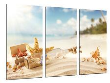 Cuadro Moderno Paisaje Mensaje Botella de Amor,Estrellas de Mar,Playa,Mar, 26518