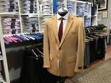 Tan Camel Hair Two Button Blazer by Vito De Pinto Collection 50R