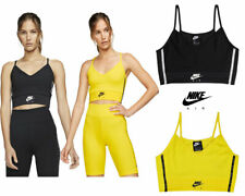 Nike Womens Cropped Tank Top Sports Vest Tops Bra Yoga Air Workout Vests Cotton