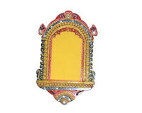 Handmade Handpainted Wooden Jharokha, Wooden Photo Frame Jharokha
