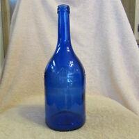 COBALT BLUE GLASS BOTTLE TALL FROM BELGIUM DE BRAAM 750 ML