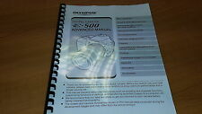 OLYMPUS E-500 DIGITAL CAMERA PRINTED INSTRUCTION MANUAL USER GUIDE 216 PAGES A5