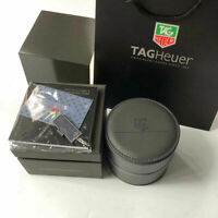 Dark Gray TAG HEUER Watch Box Case Genuine Leather Full Set Bag & Papers Carrera