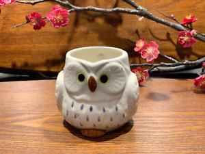 Japanese Lucky Owl Mug White Made in Japan