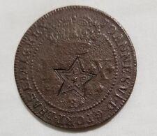 Ceara star countermark brazil 40 reis 1833