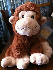 RUSS Berrie New Baby Jungle Monkey Soft Plush Toy Newborn Gift Lge Called Naamah