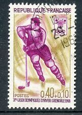 STAMP / TIMBRE FRANCE OBLITERE N° 1544 SPORT / JEUX OLYMPIQUES GRENOBLE