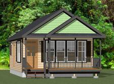 20x32 House -- 1 Bedroom  -- PDF Floor Plan --640 sq ft -- Model 1F