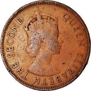 [#766900] Coin, Mauritius, Elizabeth II, 5 Cents, 1965, EF(40-45), Bronze, KM:34