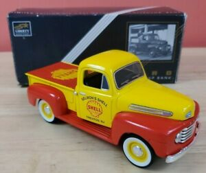 1948 Selmon's Shell Ford F-1 Pickup Truck Diecast Lockable Coin Bank With Key