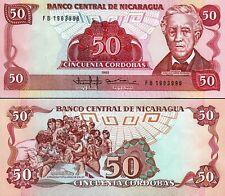 Nicaragua 50 Cordobas 1985, UNC, P-153