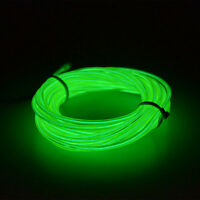 1/2/3M 5mm LED Flexible Neon Light Glow EL Wire Rope Tube Car Dance Party Decor