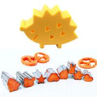 10pcs Hedgehog Shaped Box Vegetable Fruit Mini Cutters Cake Cookies CutteCRIT