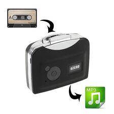 EZCAP portatile 230 USB Cassette a mp3 Convertitore di acquisizione con la riproduzione-Nero
