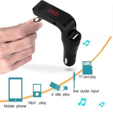 Hands-free Bluetooth Car Kit Radio Mp3 Player Fm Transmitter Usb Car Charger Aux