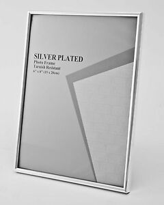 Silver Photo Picture Frame - ALL SIZES - Shiny Thin Silver Edge Design