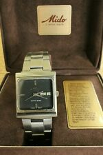 MIDO OCEAN STAR SQUARE CASE STAINLESS STEEL DAY DATE LINK BRACELET WATCH BOX SET