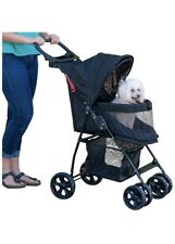 Pet Gear NO-Zip Happy Trails Lite Pet Stroller for Cats/Dogs, Easy Fold with ...